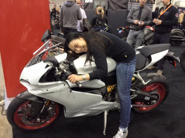 With 2016 Ducati 959 (January 10, 2016)