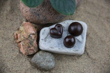 "Sake Chocolates - ""Sake Ganache"", ""Sake Ganache with Dried Fruit"", and ""Sake Jello"""